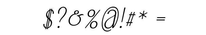 Falkin Script PERSONAL Font OTHER CHARS