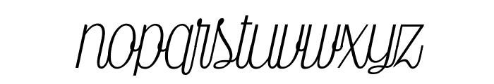 Falkin Script PERSONAL Font LOWERCASE