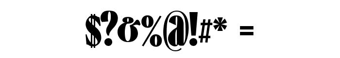 Falkin Serif Bold PERSONAL Font OTHER CHARS