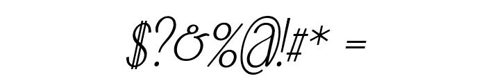 Falkin Serif Italic PERSONAL Font OTHER CHARS