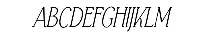 Falkin Serif Italic PERSONAL Font UPPERCASE