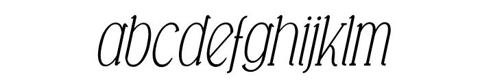 Falkin Serif Italic PERSONAL Font LOWERCASE