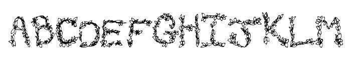 FallGreetings Font UPPERCASE