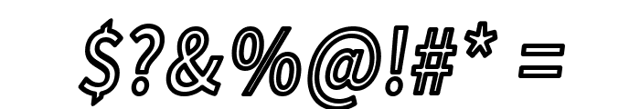 Falling Sky Condensed Outline Oblique Font OTHER CHARS