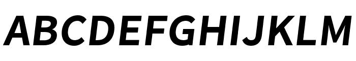 Falling Sky SemiBold Oblique Font UPPERCASE