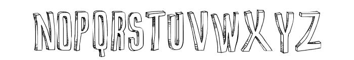False 3D Font UPPERCASE