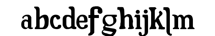 Fam Fuerte Font LOWERCASE