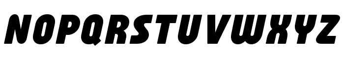 Familian Oblique Font UPPERCASE