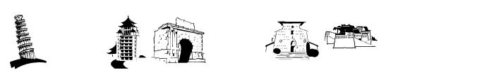 FamousBuildings Font OTHER CHARS