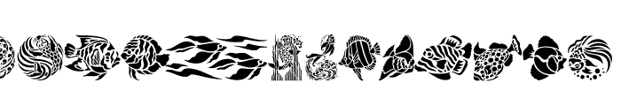 Fancy Fish Font UPPERCASE