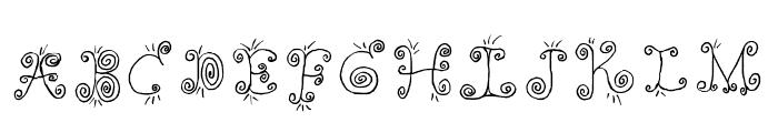 Fancy Nancy Regular Font UPPERCASE