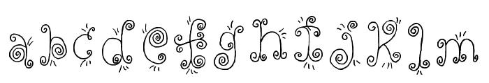 Fancy Nancy Regular Font LOWERCASE