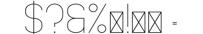 FancySans Light Font OTHER CHARS
