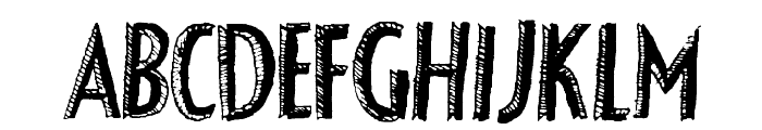 FancyShadow Font UPPERCASE