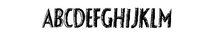 FancyShadow Font LOWERCASE