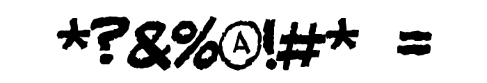 Fandango Font OTHER CHARS