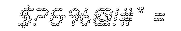 Fanfare Ticker 3D Italic Font OTHER CHARS
