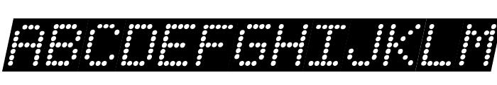 Fanfare Ticker Background Italic Font LOWERCASE