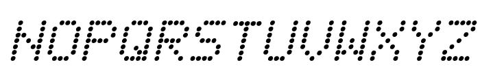 Fanfare Ticker Italic Font UPPERCASE