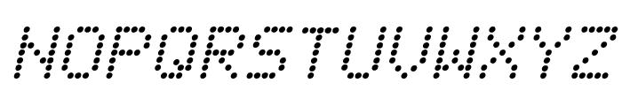Fanfare Ticker Italic Font LOWERCASE