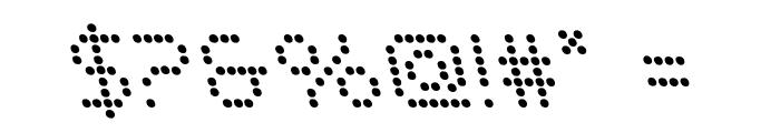 Fanfare Ticker Leftalic Font OTHER CHARS