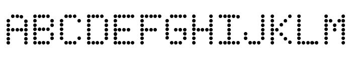 Fanfare Ticker Font UPPERCASE