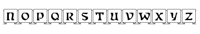 Fanfold Font UPPERCASE