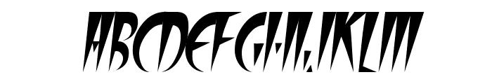 FangsSCapsSSK Italic Font UPPERCASE
