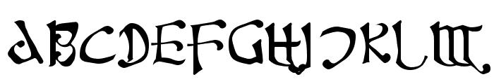 Fanjofey AH Regular Font UPPERCASE