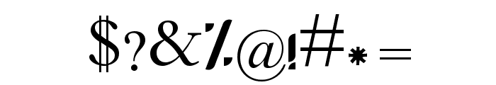Fanni II Font OTHER CHARS