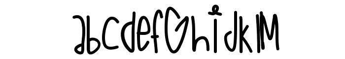 FantaseaAquaBabe Font LOWERCASE