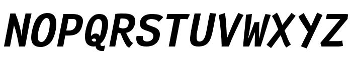 Fantasque Sans Mono Bold Italic Font UPPERCASE