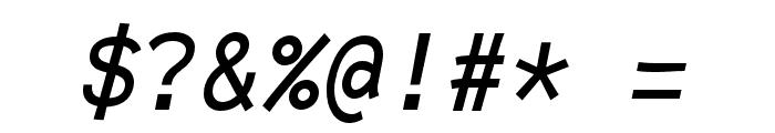 Fantasque Sans Mono Italic Font OTHER CHARS