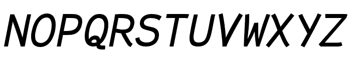 Fantasque Sans Mono Italic Font UPPERCASE
