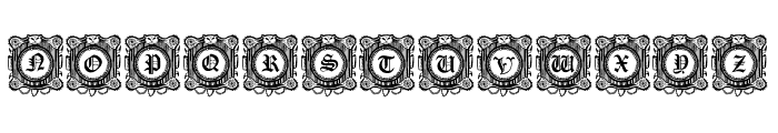 Fantasy Capitals Regular Font LOWERCASE