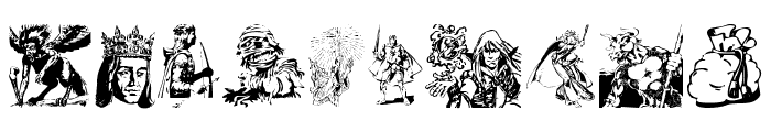 Fantasy Clipart Font OTHER CHARS