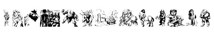 Fantasy Clipart Font UPPERCASE