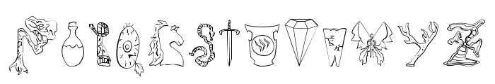 Fantasy Playing Game Regular Font UPPERCASE