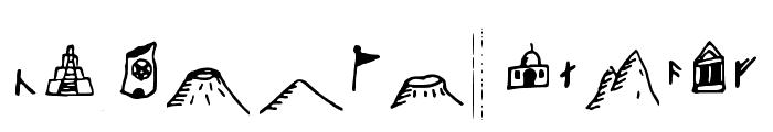 Fantasymapbats Regular Font UPPERCASE