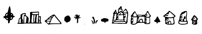 Fantasymapbats Regular Font LOWERCASE