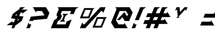 Fantazian Italic Font OTHER CHARS