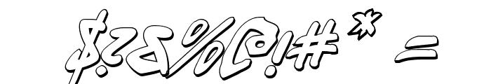 Fantom 3D Italic Font OTHER CHARS