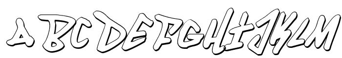 Fantom 3D Italic Font LOWERCASE