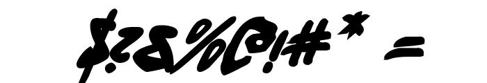 Fantom Bold Italic Font OTHER CHARS