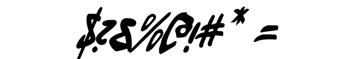 Fantom Condensed Italic Font OTHER CHARS