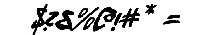 Fantom Italic Font OTHER CHARS