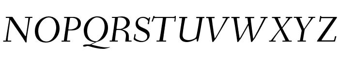Fanwood Italic Font UPPERCASE