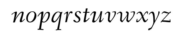 Fanwood Italic Font LOWERCASE
