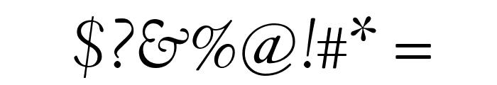 Fanwood TT Italic Font OTHER CHARS