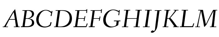 Fanwood TT Italic Font UPPERCASE